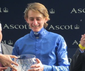 Adam Kirby rode Aussie Reigns in the Winter Derby at Lingfield Park.