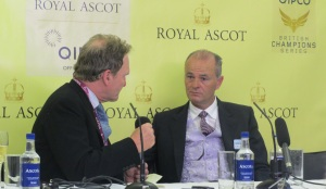 Trainer Eddie Lynam (right) was in sublime form at Royal Ascot with three winners.