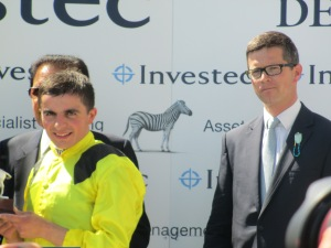 Trainer Roger Varian (right) wants the ground to ease before committing Kingston Hill to the Irish Derby.