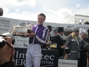 Joseph O'Brien rode Australia to victory at in the Investec Derby at Epsom Downs. The success was a record third successive win in the race for his father, trainer Aidan O'Brien who was winning the race for the fifth time.