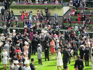 The Parade Ring at Royal Ascot 2014.