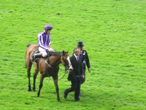 Leading Light and Joseph O'Brien at Ascot after winning the Gold Cup at Ascot on Ladies' Day.