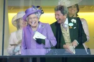 The Queen and John Warren at Ascot. Pic: Courtesy of Great British Racing.