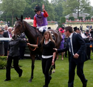 Estimate and Ryan Moore after winning The Gold Cup  Pic: Dan Abraham - racingfotos.com  (Courtesyof Great British Racing).