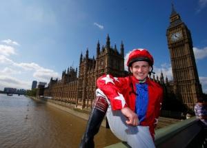 Jamie Moore and Sire De Grugy combined to win five Grade 4 races last season. Pic: Dan Abraham (Courtesy of Jockey Club Racecourses).