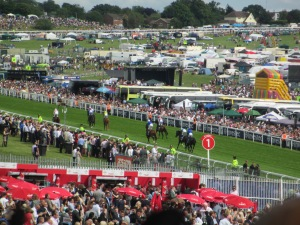 Runners canter down to the for this year's Investec  Derby at Epsom.