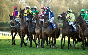 Runners line up ahead of the Coral Welsh Grand National. Pic: Courtesy ARC.