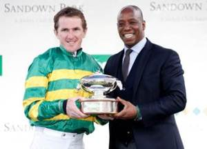 Tony McCoy has complemented Sandown for the reception he was given on his retirement on Saturday, that included receiving his 20th jockeys' title from Arsenal legend Ian Wright.