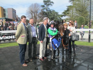 Opening Batsman and connections after his victory at Fontwell.