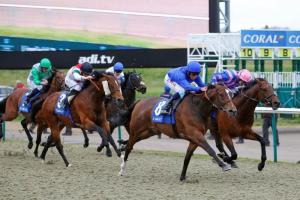 Tryster completes a hat-trick for Godolphin. Pic: Courtesy of Arena Racing Company.
