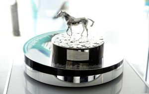 The Investec Oaks trophy.