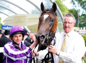 "Ryan Moore with his ninth winner of the week Aloft after winning The Queen's Vase. Pic: Dan Abraham-racingfotos.com (Courtesy of GBR). THIS IMAGE IS SOURCED FROM AND MUST BE BYLINED ""RACINGFOTOS.COM"""