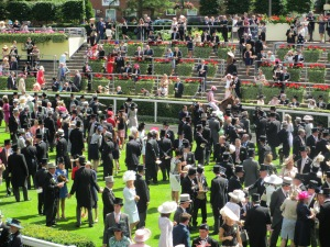 The parade ring at Royal Ascot.