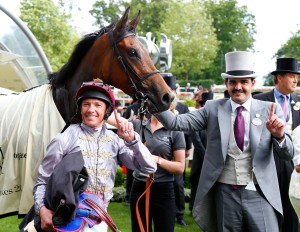 Frankie Dettori after riding his 50th winner at the Royal meeting.