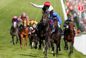Golden Horn wins the 2015 Investec Derby. (Pic: Courtesy of Great British Racing).
