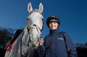 Victoria Pendleton hopes to ride at the Cheltenham Festival next year. Pic: Courtesy of Newbury Racecourse.