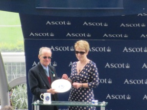 Pat Eddery at Ascot 2015.