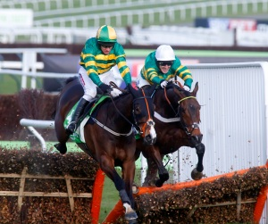 Jezki - 2014 World Hurdle - McCoy on board My Tent or Yours - cRacingfotos - crop