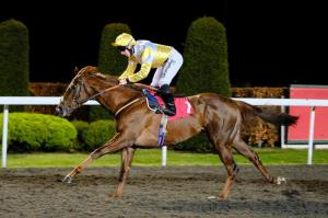 Corinthia Knight wins at Kempton Credit ARC