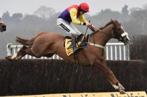 Native River on his way to winning the Betfair Denman Chase