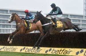 Altior (right) on his way to winning the Betfair Exchange Chase